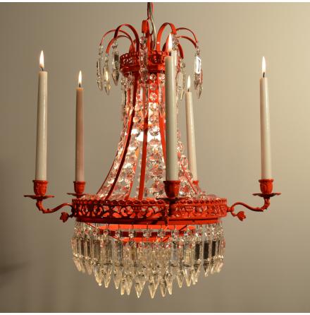 Empire kristallkrona Venus rödlackad